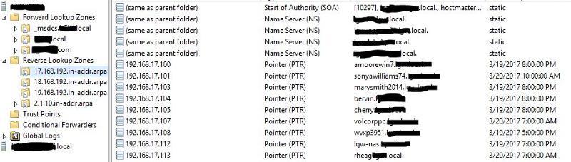 DNS Zone Info