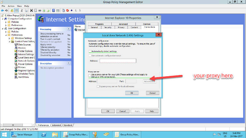 Group Policy IE