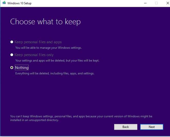 how to get into setup repair windows 10