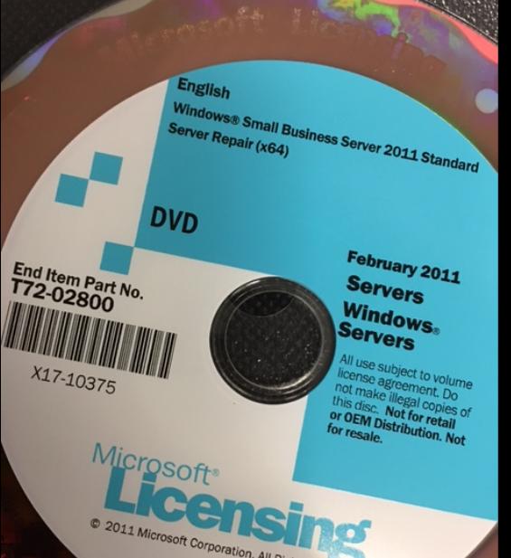 SBS2011 Repair Disk