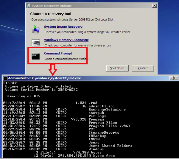 Command Prompt Session