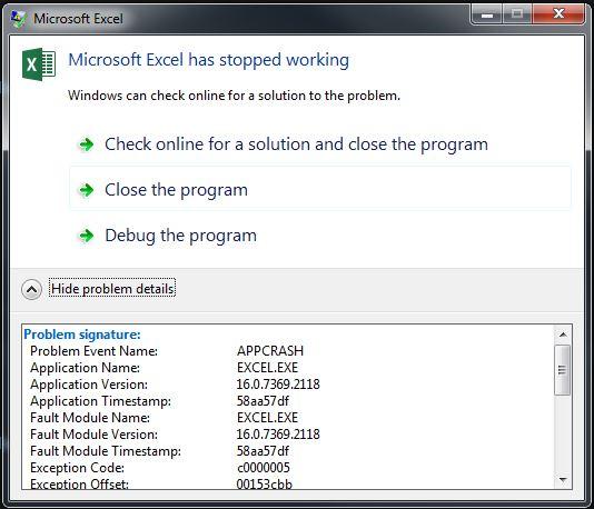 Error killing EXCEL.EXE*32