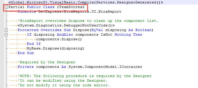 ClassName Change Designer file