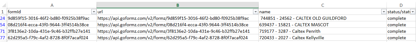 EXCEL VBA Code to get API Data and output to excel table