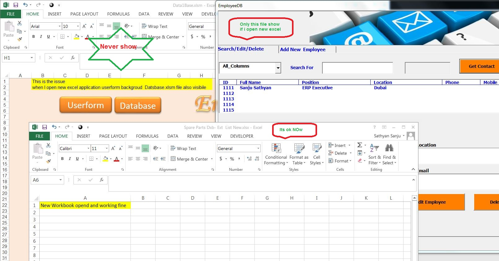 Userform Won T Allow Other Excel Workbook To Open When Opened