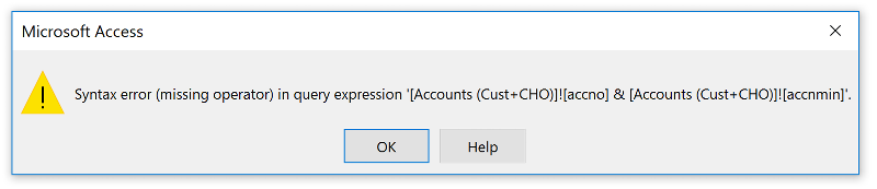 Error in the above Select