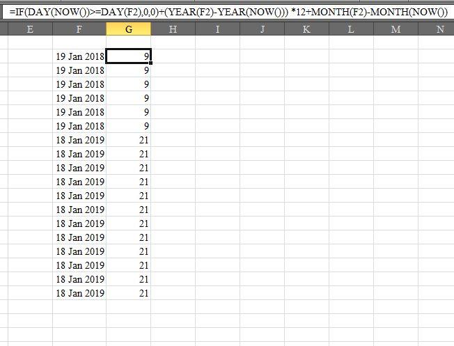 Month Calculation