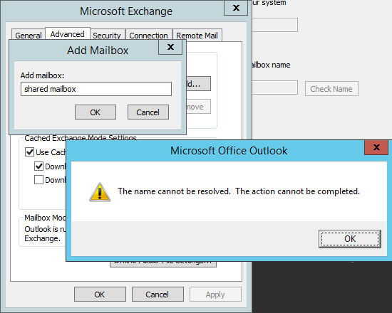 Adding Shared Office365 Mailbox To Outlook 2007
