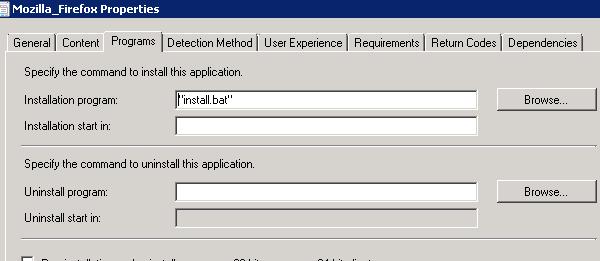 Deploying Firefox 53 using SCCM 2012