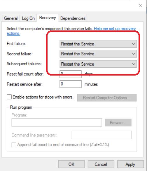 QBCFMonitorService.exe randomly stops on Windows Server 2016 Essentials.