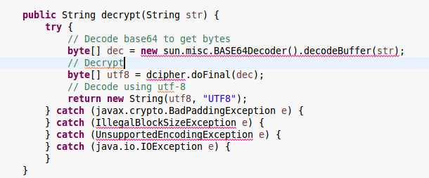 Access restriction: The type 'BASE64Decoder' is not API
