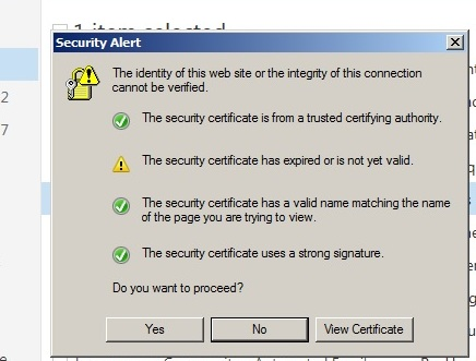 How to get rid of this security alert once and for all