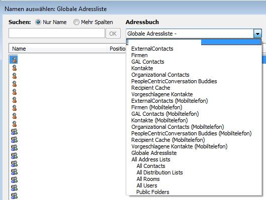 outlook 2010 exchange adressbuch