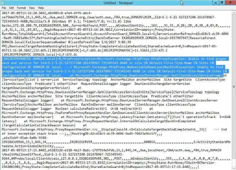 HTTP Proxy Log