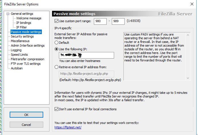 Ftp Proxy Filezilla