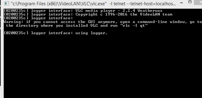 VLC command