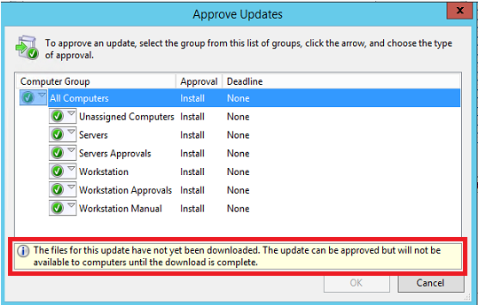 WSUS issue