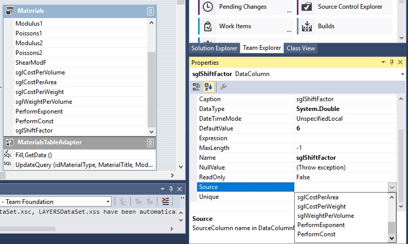 how to open table in visual studio