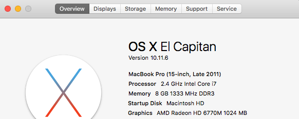 MacBook specs