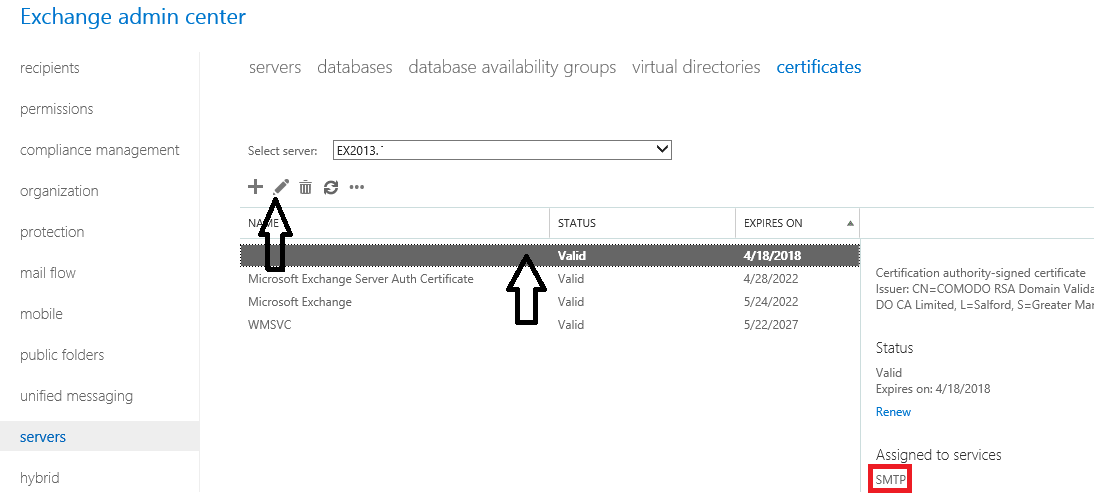 Exchange 2013 Fix For An Invalid Certificate And Related Issues