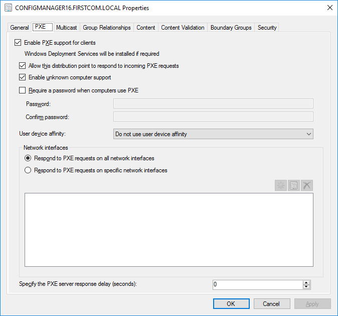 SCCM OSD - PXE-M0F: Exiting PXE ROM  Selected boot device failed