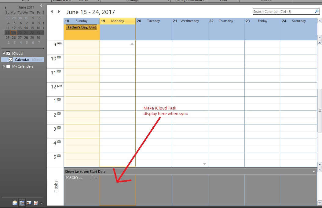 How To Make Icloud Task Appear In Outlook Calendar Show Task Section