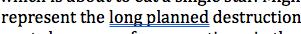 Underlined