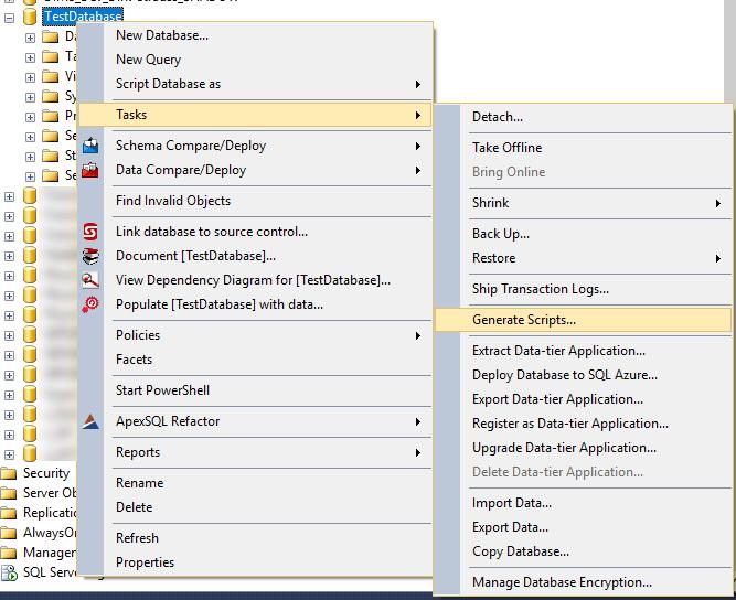 Export Table Data in SQL Server Management Studio