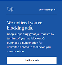 Washington Post Web Site