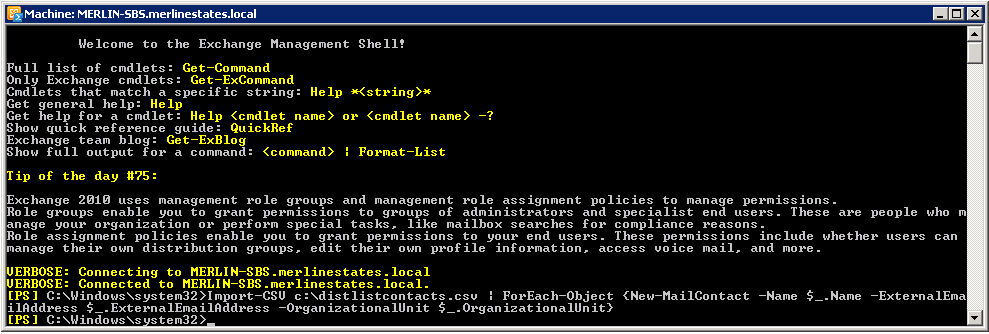 Powershell Script has suddenly stopped working