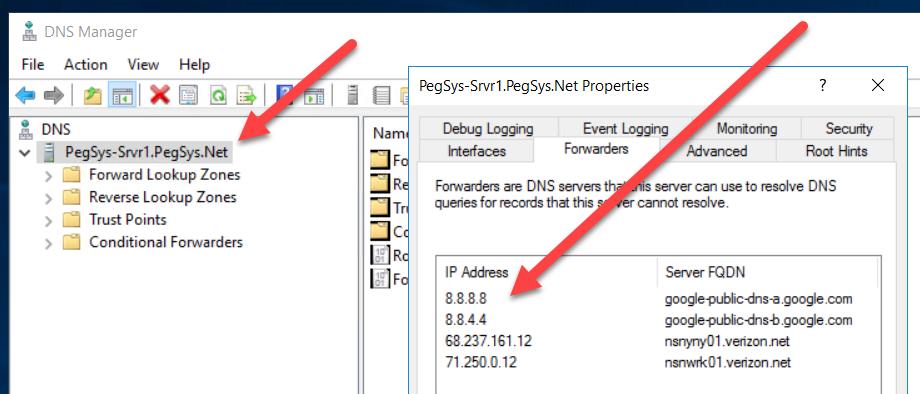 DNS Windows Server 2016 Browsing Internet Unexpected
