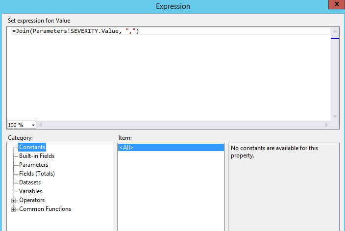 Express within the dataset
