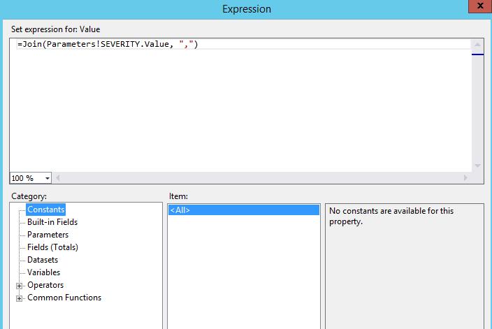 SOLUTION] SSRS 2013 Shell passing multi value string parameter