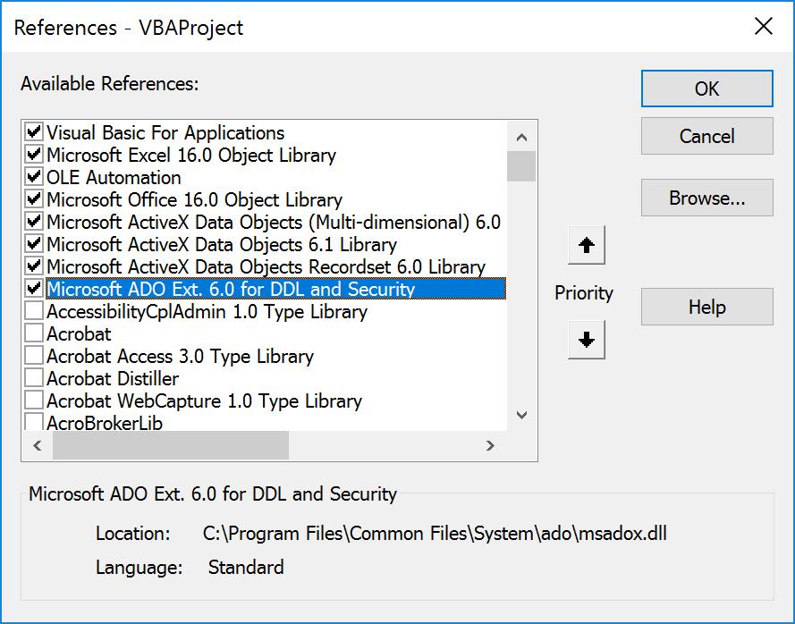 Excel VBA 3709 Run-Time Error