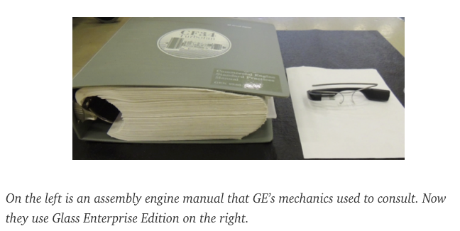 instruction manual compared to glass