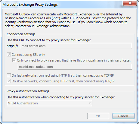 Outlook Anywhere Proxy