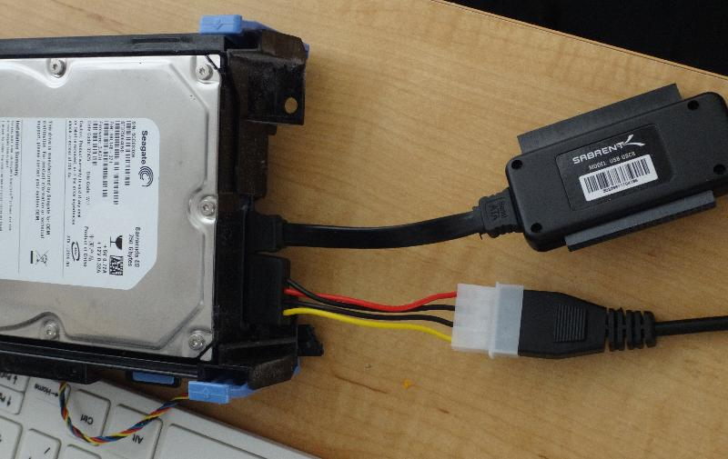 Connected as external drive to another computer