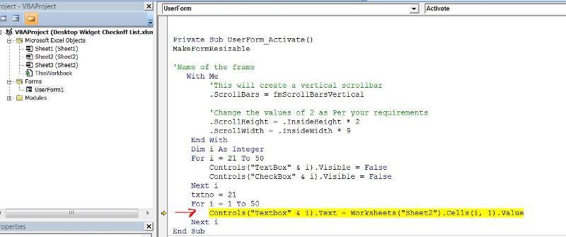 Debug Error within Form Code