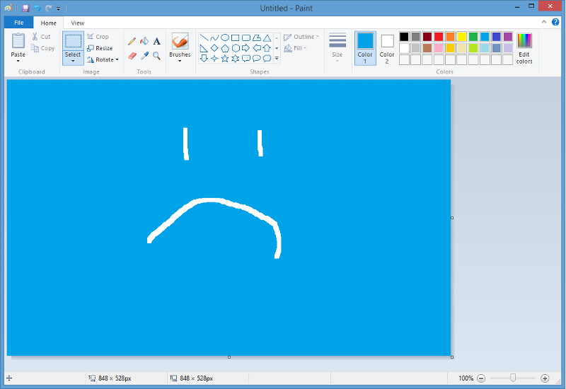paint sad face