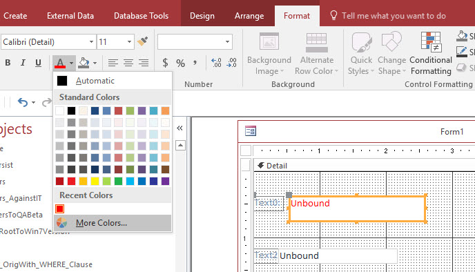 Setting ForeColor in VBA using Named Colors