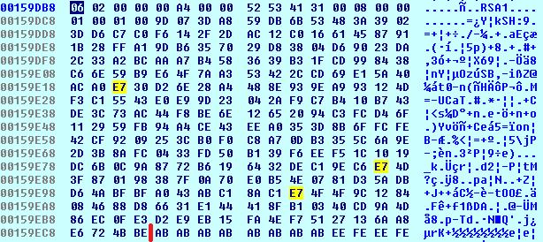 Cerber Ransomware PUBLICKEYBLOB