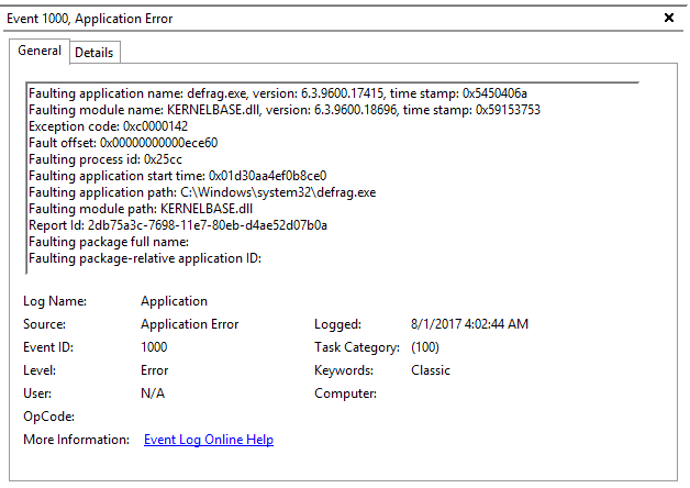 Windows Server 2012 R2 Standard non-interactive tasks crashing with