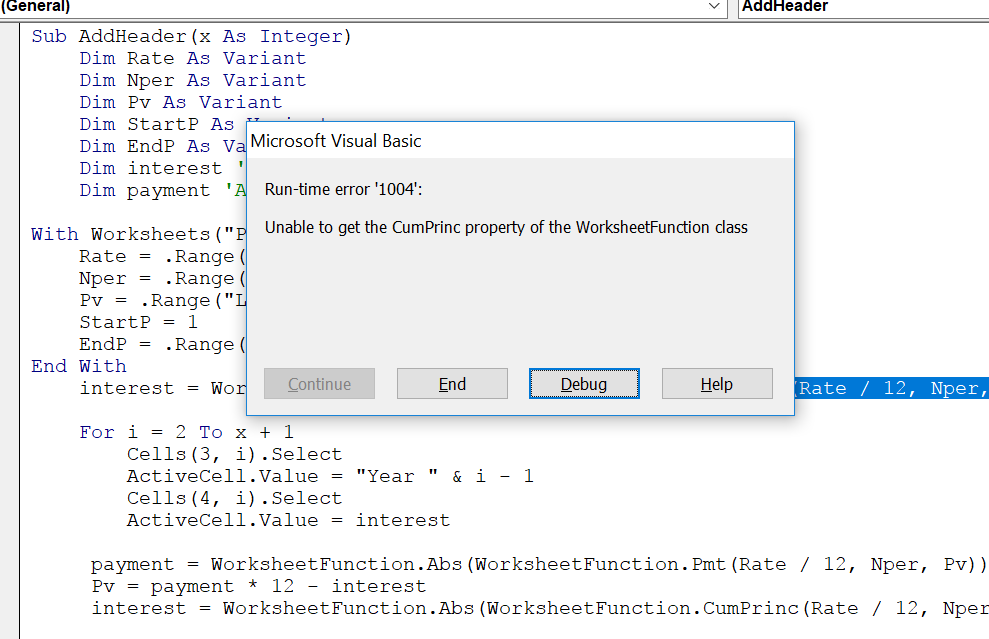 Execl Vba Error. End Sub Error. Worksheet. Worksheetfunction Large At Mspartners.co