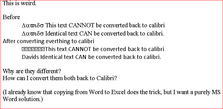 Ms Word 2010 Sometimes Cannot Convert Symbol Font Back Into