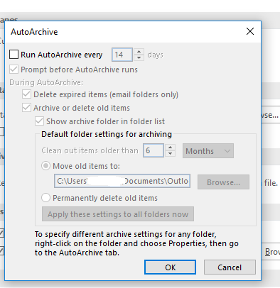 Outlook-auto-archive-settings