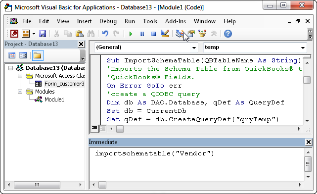 QODBC: How to use VBA to Disable Non-Updateable QuickBooks