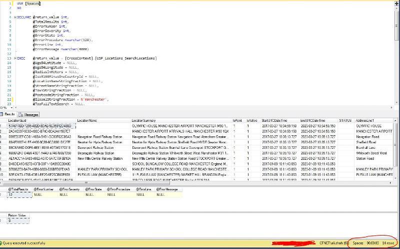 Internal dev/test database