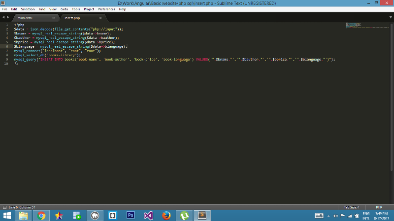 This is my insert.php code