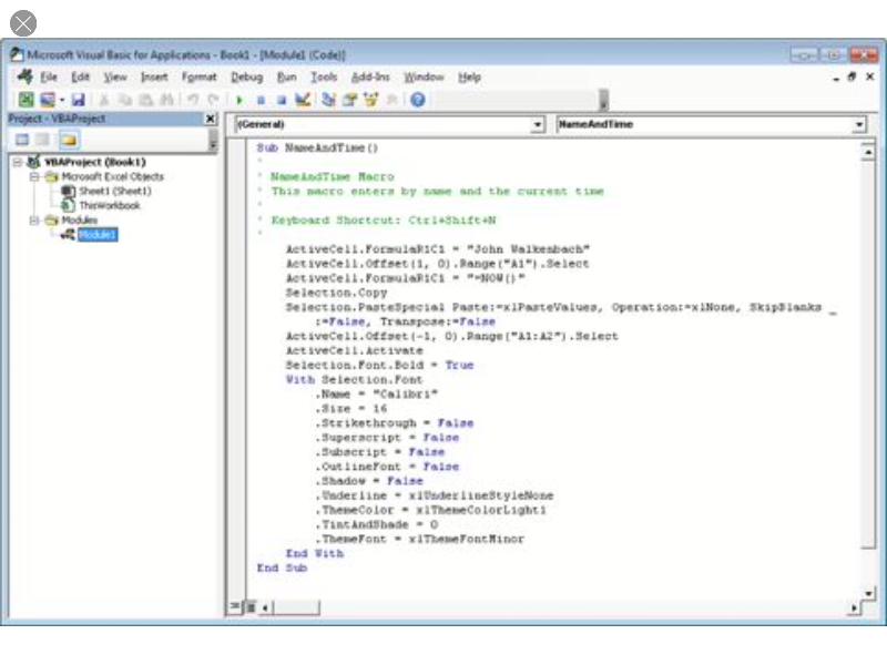 The 'Dummies' VB Editor page screenshot