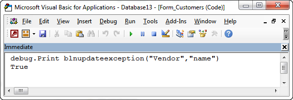 QODBC: How to use VBA to Disable Non-Updateable QuickBooks® Fields